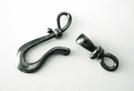 Gum Metal Hook and Eye Clasp with Figure 8 End