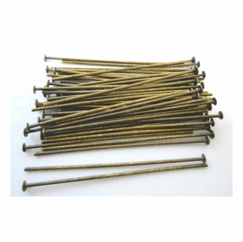 Head Pin - 1.5 in. - 50 Pieces - Antique Brass<br>HP1129BOX