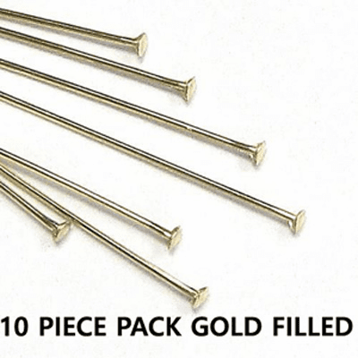 Head Pins 22 Ga.10 Pieces Gold Filled 1.5 inches