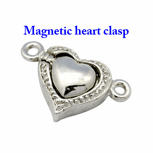 Heart Brass Magnetic Clasps