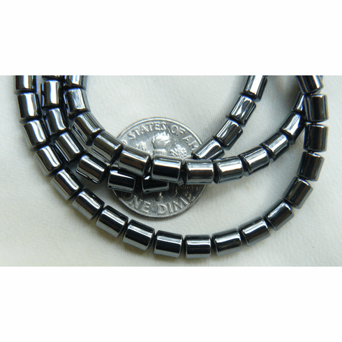 "Hematite - Barrel Beads 4x5mm 16"" strands"
