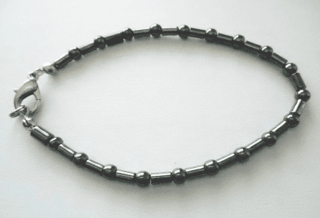 Hematite Bracelet With Lobster clasp ready to wear