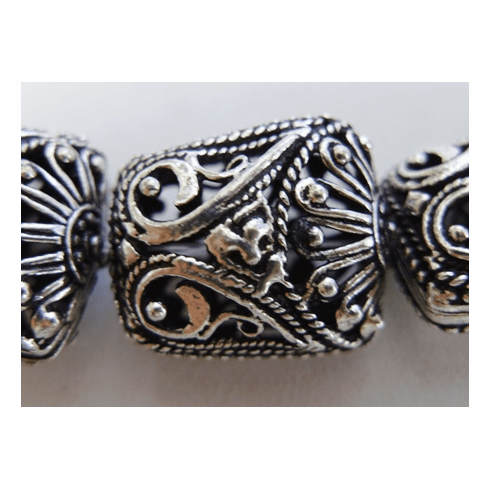 Hollow Bead - 20mm - 10 beads - .999 Silver Over Copper<br>SCBK4-14
