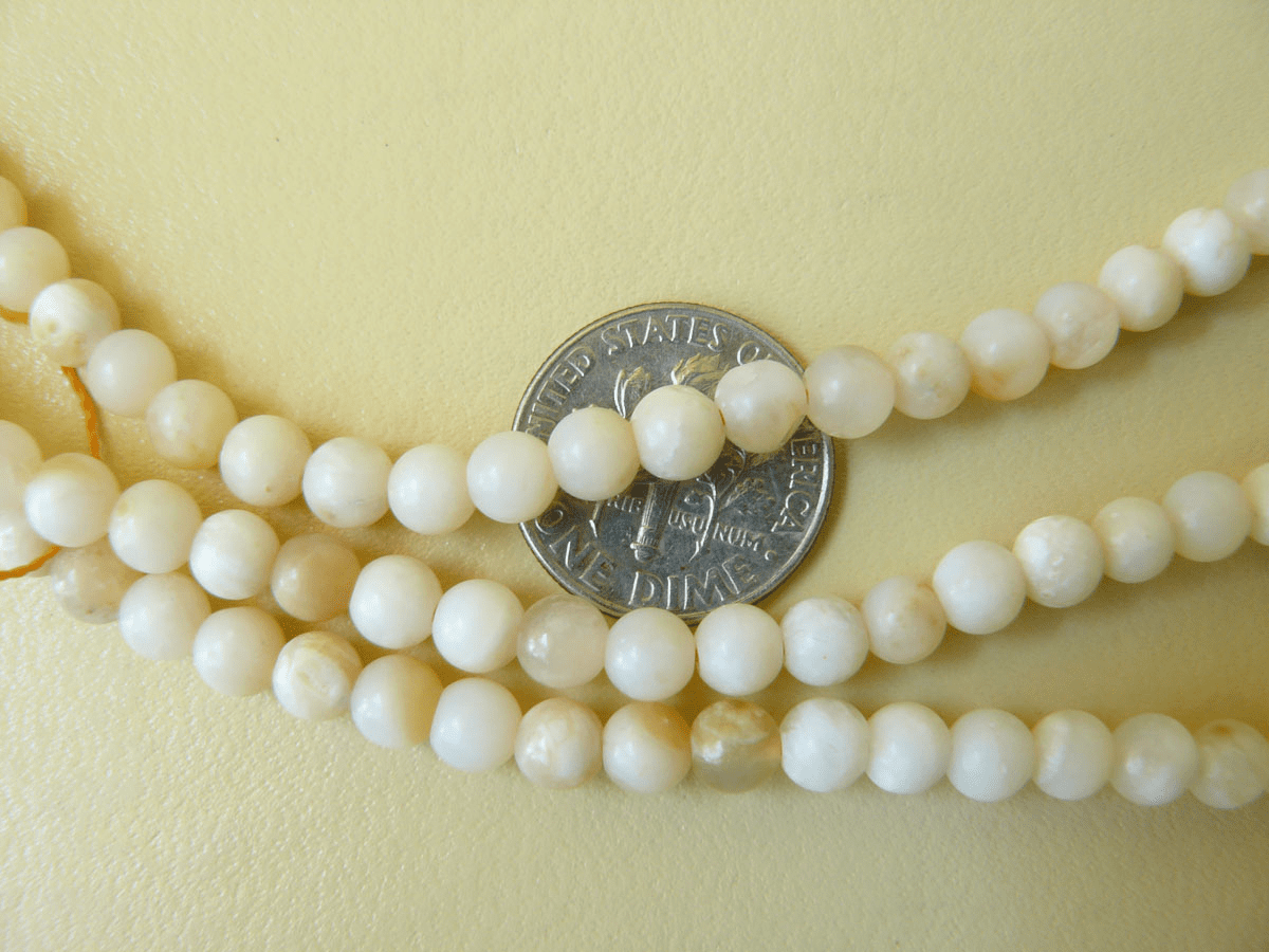 Honey Opal beads 5mm round from Peru