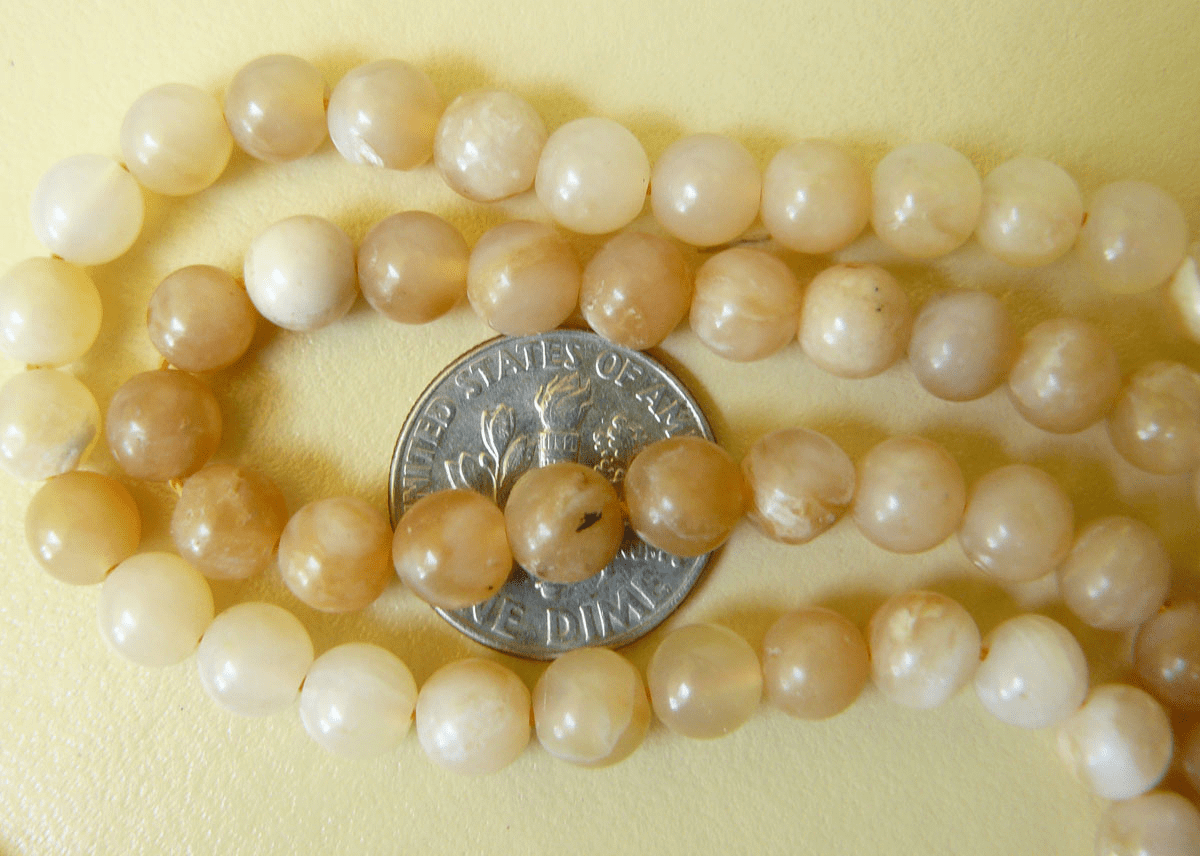 Honey Opal beads 6mm round from Peru