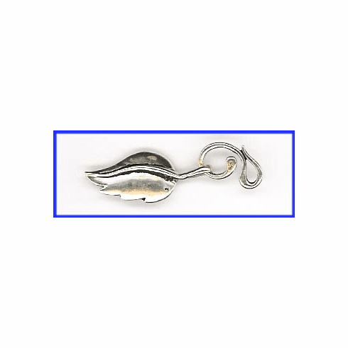 Hook and Eye Leaf Clasp - 1 Clasp - Sterling Silver<br>EI2207