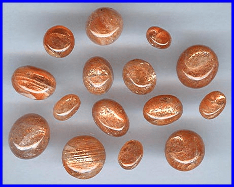 Indian Sunstone Cabochons