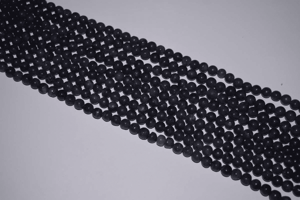 "Iolite  Mala Beads 14"" strands 8-9mm uniformly strung"