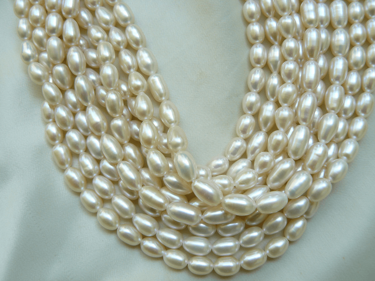 Ivory White Fresh Water Pearl 8mm A grade nice necar