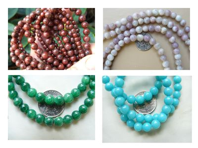 Jade Beads Many colors and Shapes of Jade