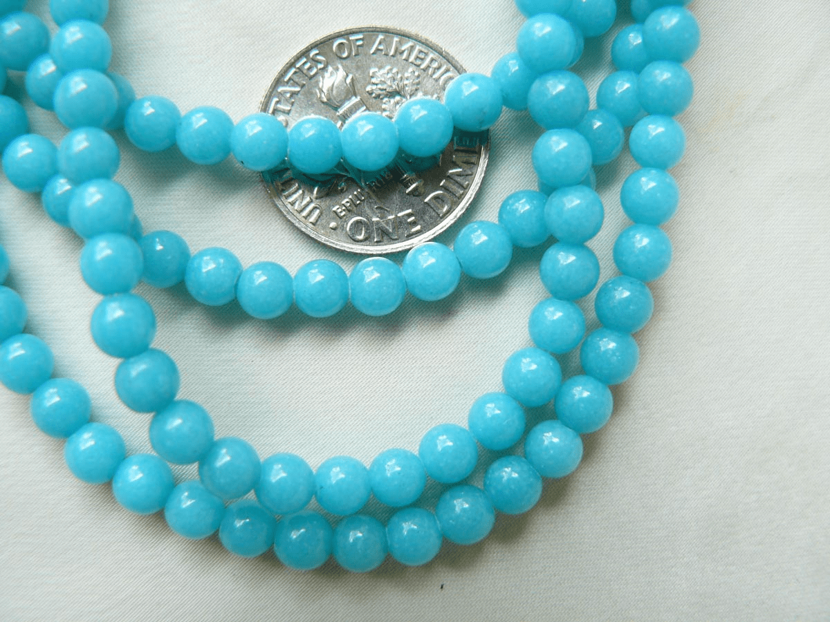 "Jade beads Blue color 4mm 16"" Strands"