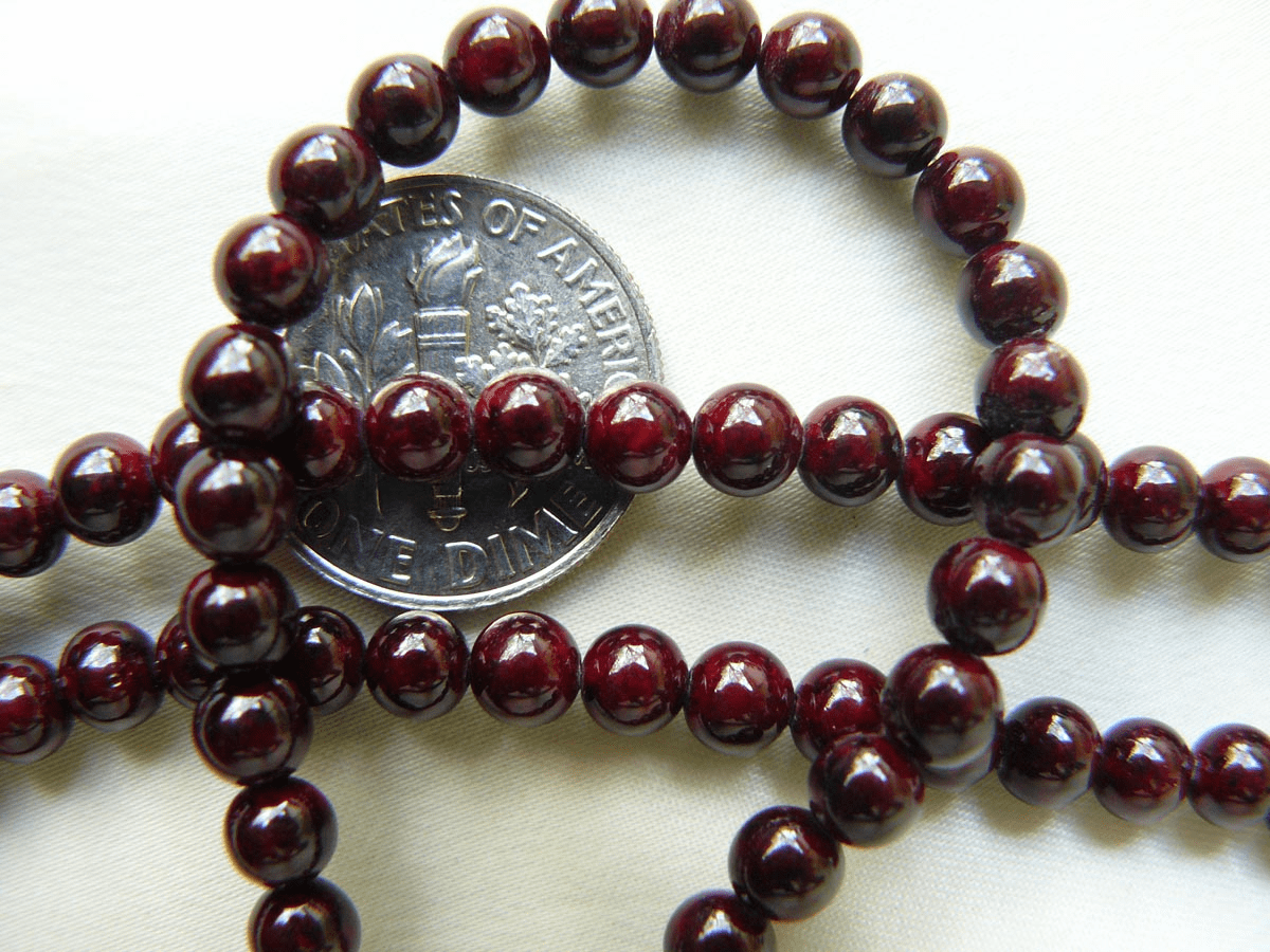 "Jade beads Mahogany color 6mm 16"" Strands"