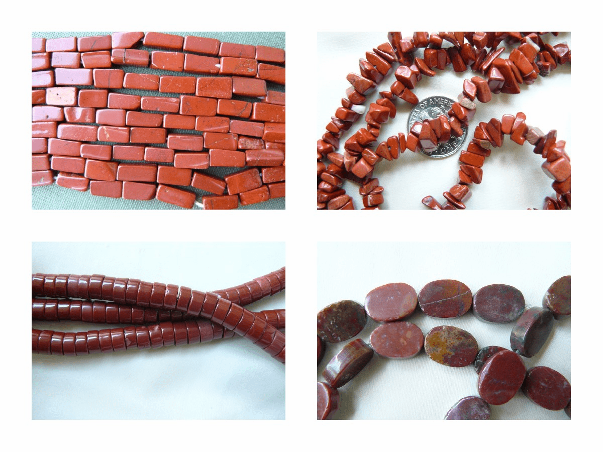 Jasper and Red Brick Jasper Beads