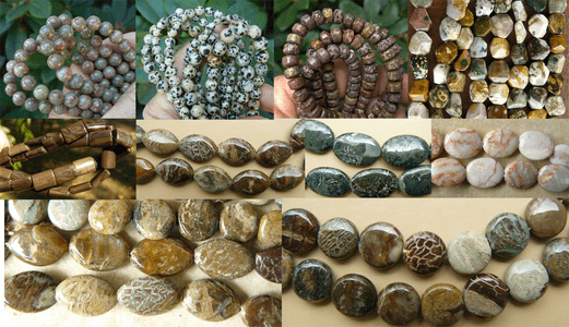 Jasper Beads with many Faces and Cuts
