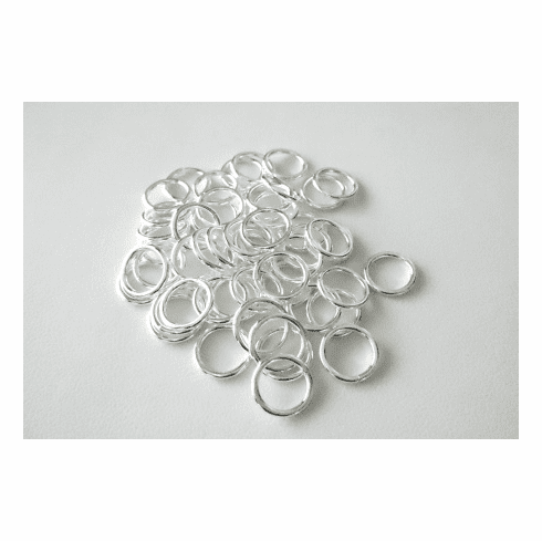 Jump Ring - 10mm - Closed - 54 Pieces - .999 Silver Over Copper<br>SCBK45-10
