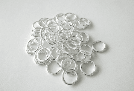 Jump Ring 10mm Open - 50+ Pieces - .999 Silver Over CopperSCBK44-10