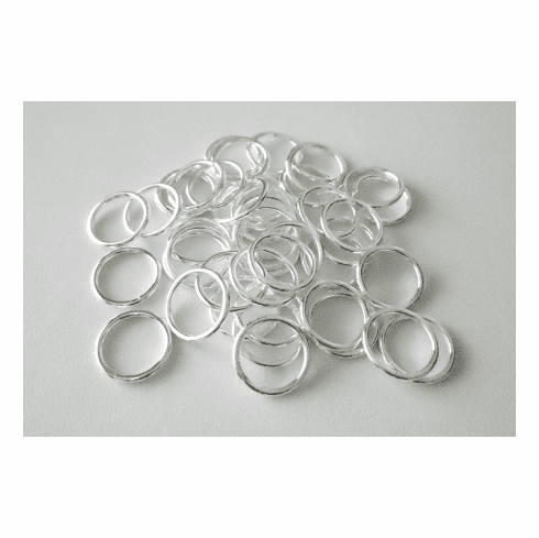 Jump Ring - 12mm - Closed  - 44 Pieces - .999 Silver Over Copper<br>SCBK45-12