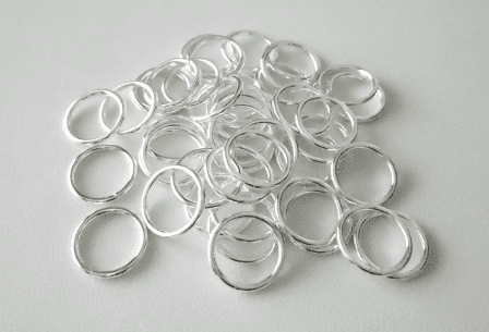 Jump Ring 12mm Open 40+ Pieces .999 Silver Over Copper SCBK44-12