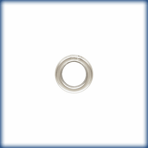 Jump Ring 20.5ga (5.0mm) CLOSED 20 pieces Sterling Silver