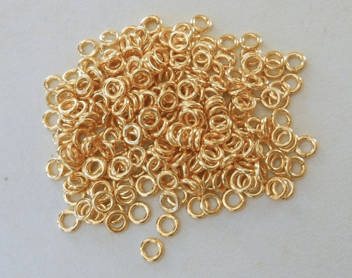 Jump Ring - 4mm - CLOSED - 240 Pieces - 24kt. Gold Over Copper<BR>GCBK45-4