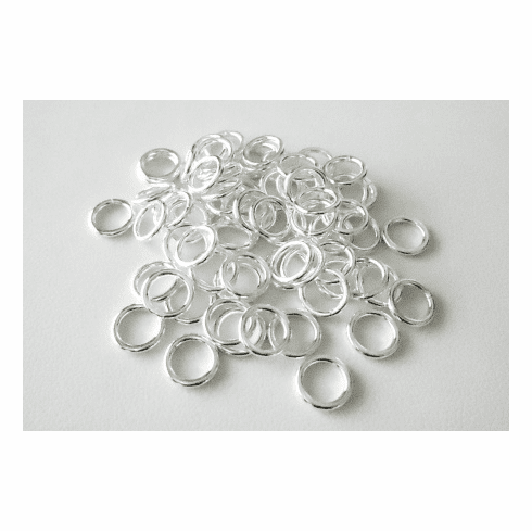 Jump Ring - 8mm - 64 Pieces - Closed - .999 Silver Over Copper<br>SCBK45-8