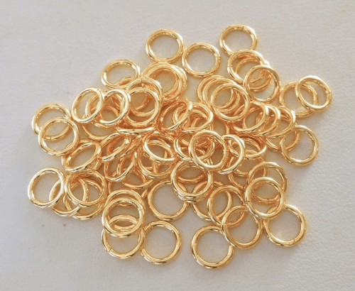Jump Ring - 8mm - CLOSED - 70 Pieces - 24kt. Gold Over Copper<BR>GCBK45-8