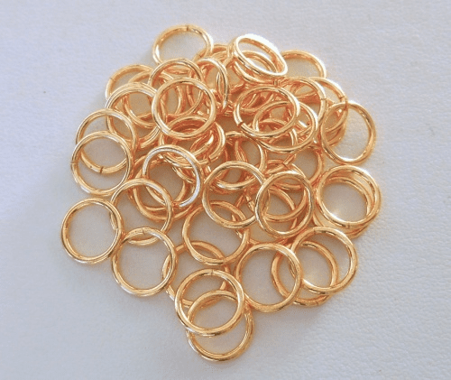 Jump Rings - 10mm - CLOSED - 54 pcs. - 24kt Gold Over Copper<br>GCBK45-10