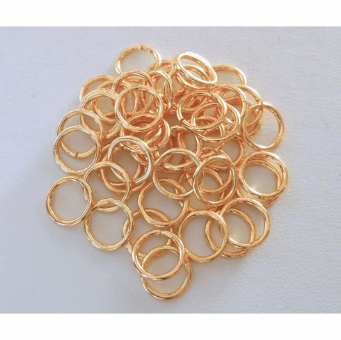 Jump Rings - 10mm - OPEN - 55 pcs. - 24kt Gold Over Copper<br>GCBK44-10