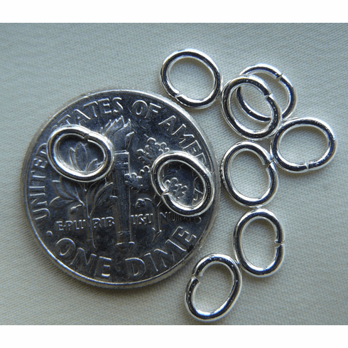 Jump Rings 3x4mm 20 Pieces Open Sterling Silver
