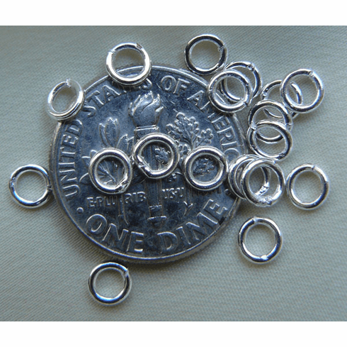 Jump Rings 4mm 25 Pieces Closed Sterling Silver SSJR254C