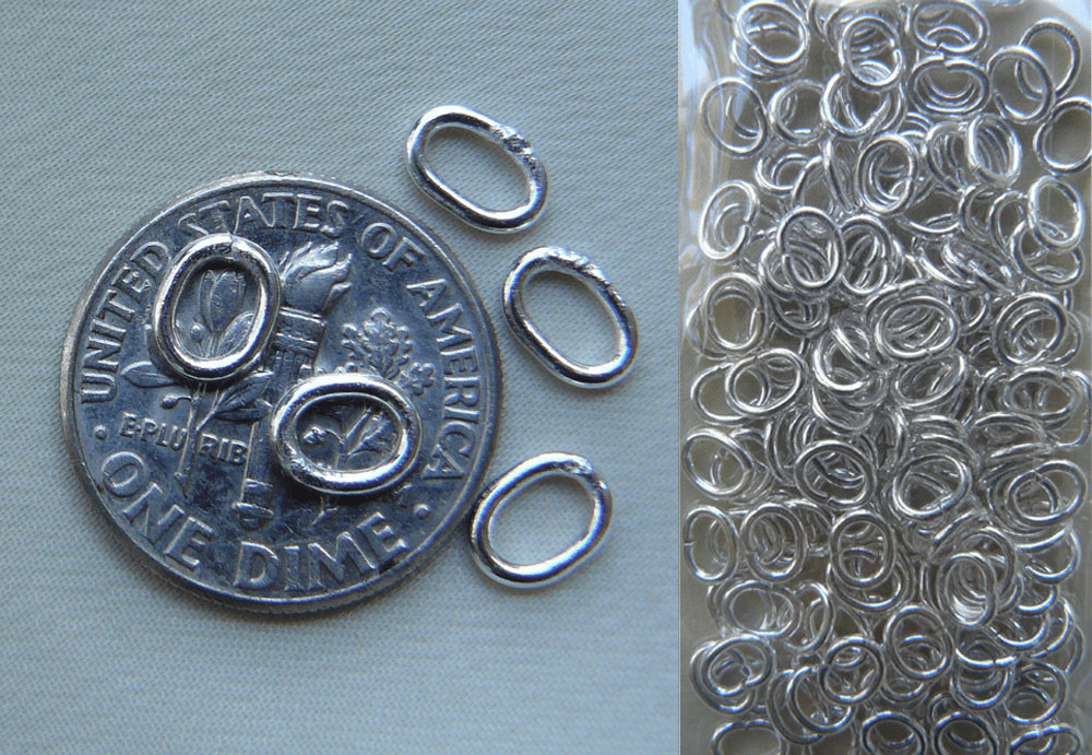 Jump Rings 4x6mm 10 Pieces Closed or Open Oval  Sterling Silver