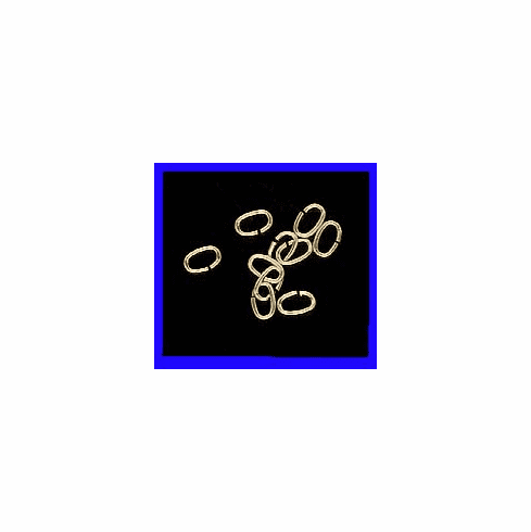 Jump Rings  4X6mm 10 Pieces Open Gold Filled GF-JR32-4X6-0