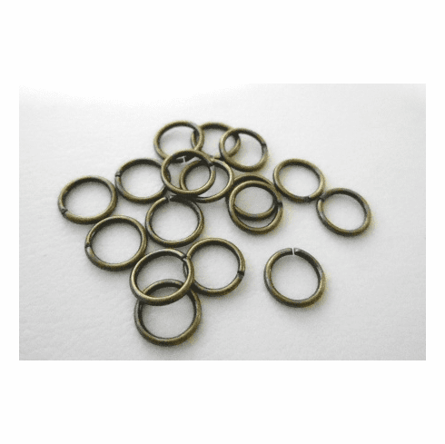 Jump Rings - 6mm - Open - 20 Pieces - Brass<br>AB-JR6O