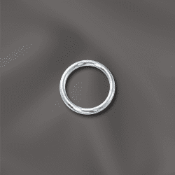 "Jump Rings Sterling Silver Open 6mm 25 pack NEW ""CLICK AND LOCK"""