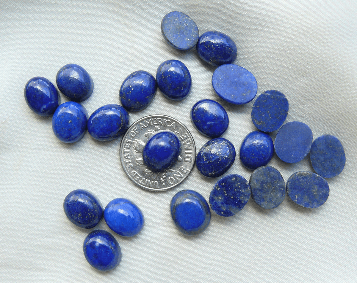 Lapis 8x10mm Oval Cabochons AAA Quality