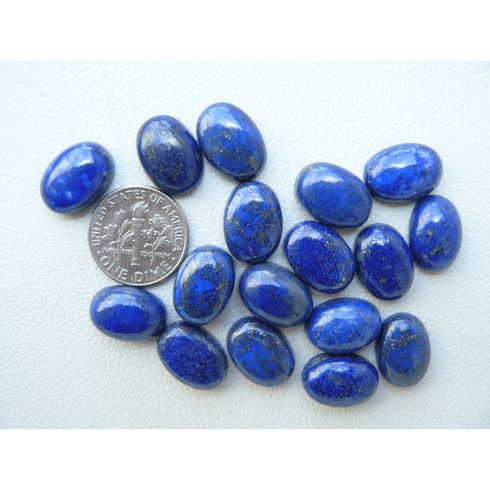 Lapis Cabochons Oval 10x14mm Premium, Calibrated