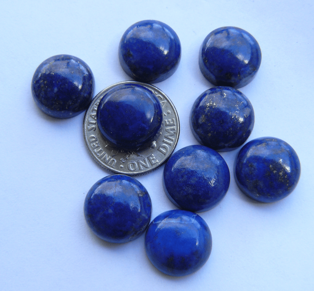 Lapis Round 12mm cabochons AAA quality