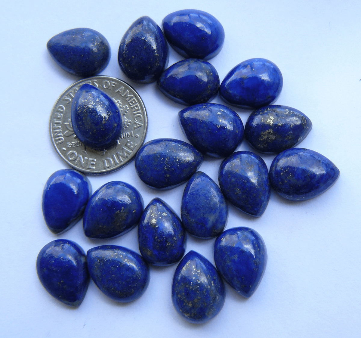 Lapis Tear Drop 9x12mm Cabochons Premium