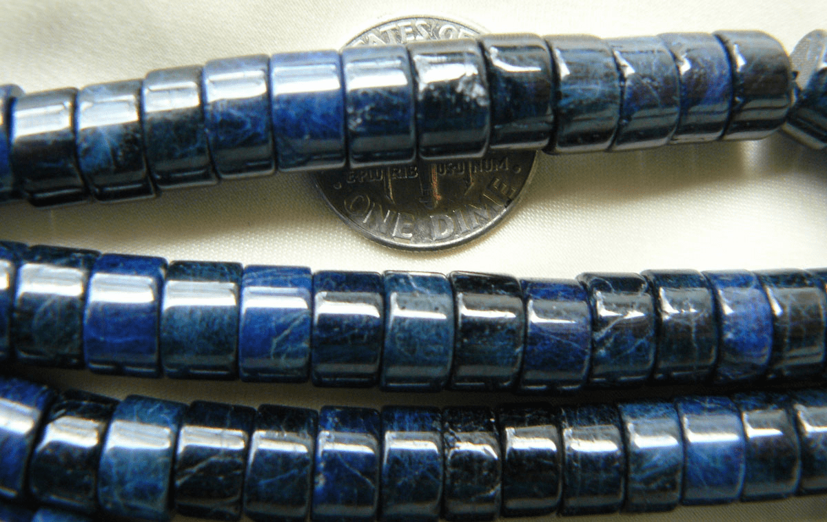 Lapis ultra premium Rondelle cut Beads 5x8mm uniformly cut