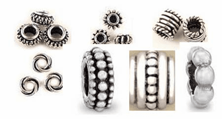 Large Hole Beads - .999 Silver Over Copper to accomidate leather or larger cord