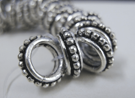 Large-hole Spacer - 12mm - .999 Silver Over Copper<br>SCBK56