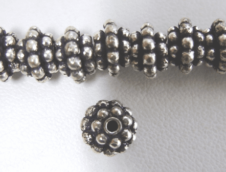 Layerd Daisy Spacer - 5x8mm - 40 Spacers - .999 Silver Over Copper<br>SCBK06