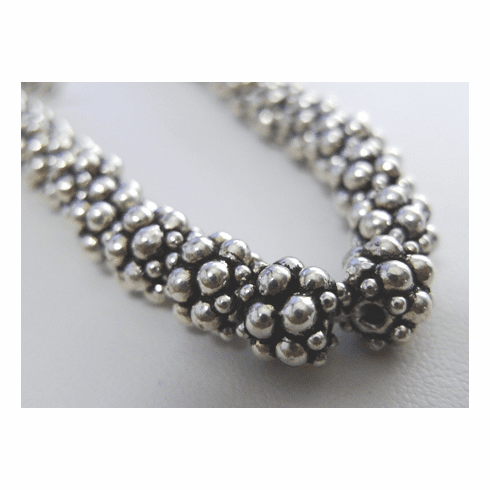 Layered Bali Style Bead 7mm .999 Silver Over Copper SCBK88