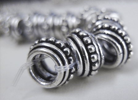 Layered Large-Hole Bead - 12mm - .999 Pure Silver Over Copper<br>SCBKP02 -