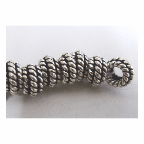 Layered Rope Detail Spacer-Sterling Over Copper