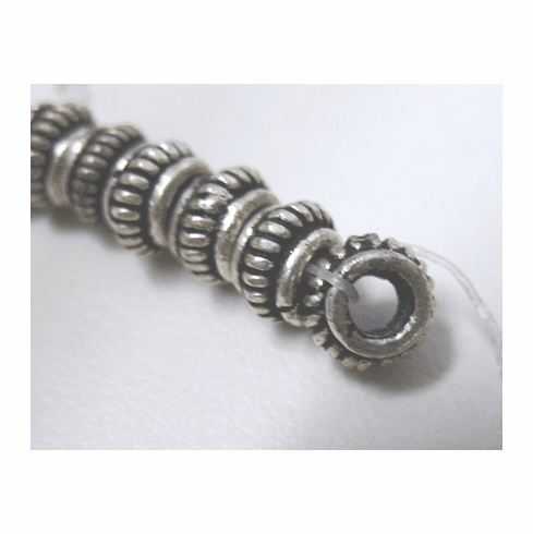 Layered Spacer 4x6mm or 4x8mm .999 Silver Over Copper SCBK166