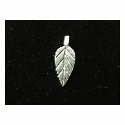 Leaf Glue-On Bail - 8x20mm - 17 Pieces - .999 Silver Over Copper