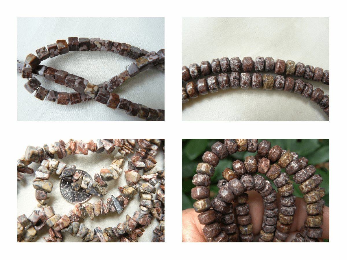 Leopard Skin Jasper Beads choice of shapes and cuts