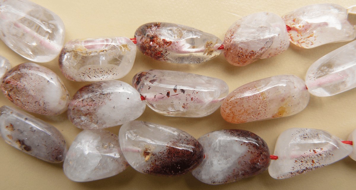 """Lepidicrosite and Tumbled beads 16"""" strands"""