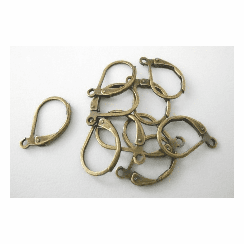 Lever Back Ear Wire - 10x13mm - 10 Pieces - Brass<br>PK1913BOX